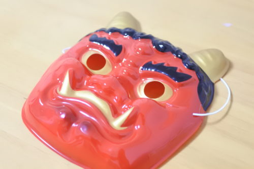 節分の鬼の仮面