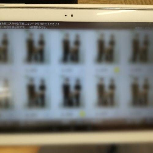 スタジオアリスのマタニティフォト 写真選択タブレット