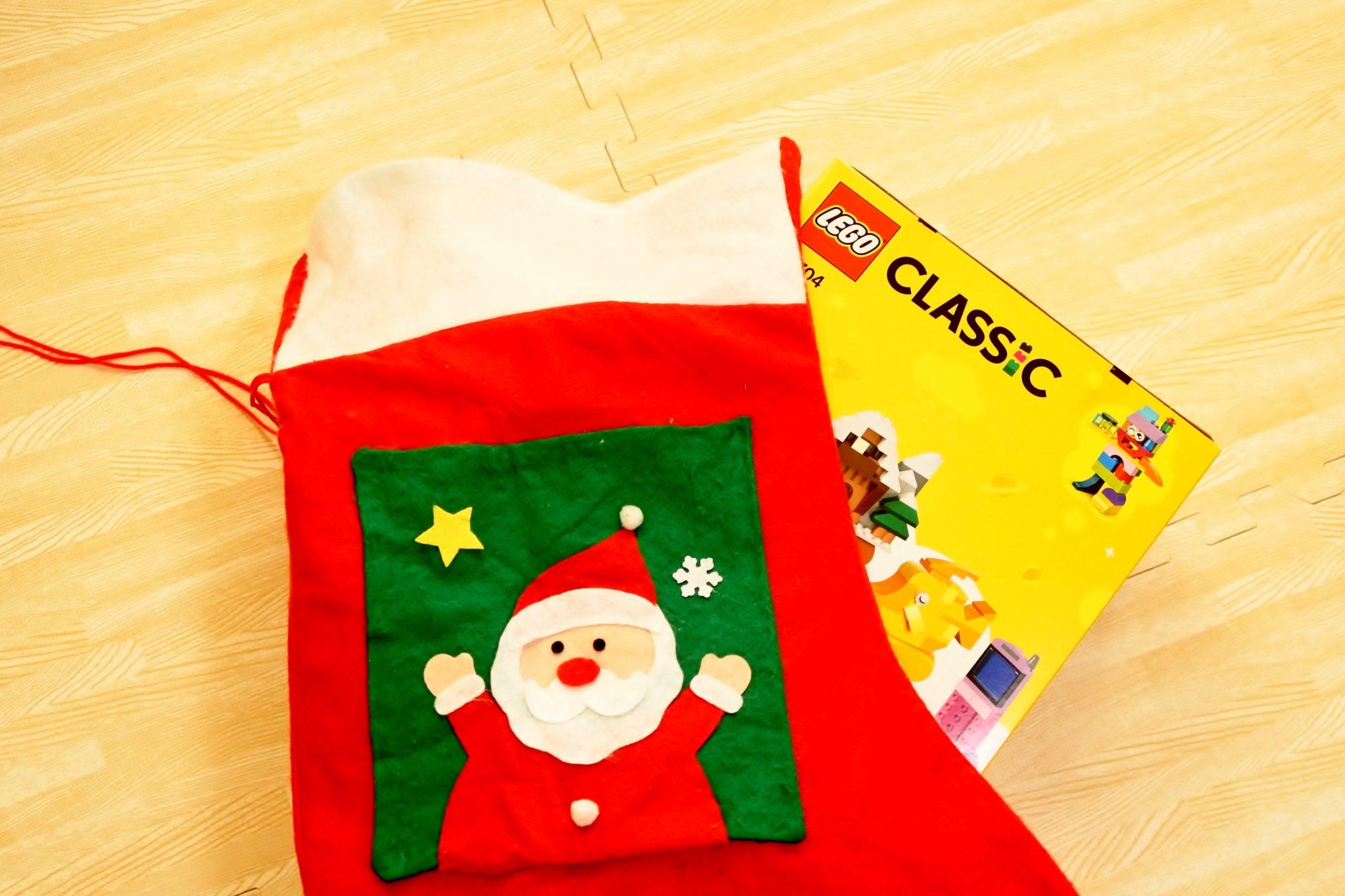3歳のクリスマスプレゼント 靴下